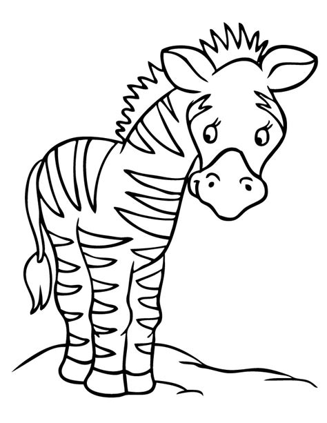 printable coloring page of a zebra free coloring pages of zebra print a