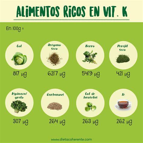 alimentos ricos en vitamina alimentos ricos en vitamina k infograf 237 as