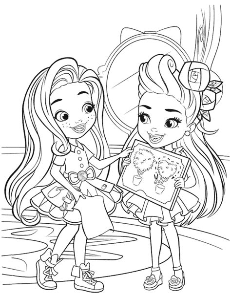 coloring page sunny day sunny and blair coloring pages get coloring pages