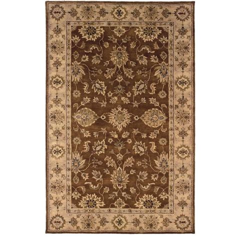 linon home decor rugs linon home decor rosedown collection brown and gold 8 ft
