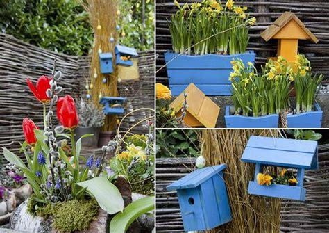 decori per giardino addobbare il giardino con le decorazioni pasquali casa e