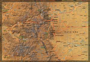 relief map colorado show me colorado