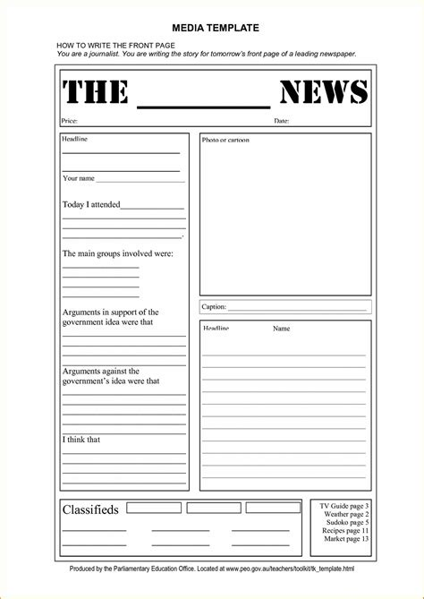 newspaper template blank newspaper templates newspaper template for