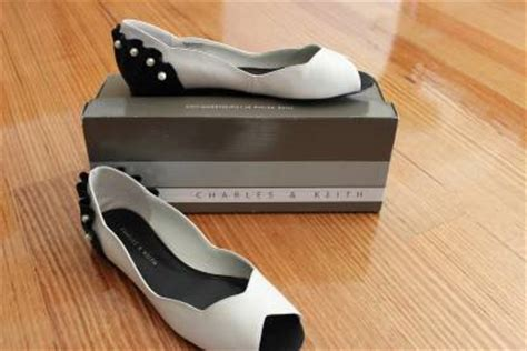 Flat Shoes Silver Charles And Keith Charles And Keith Flat Shoes 2 Pair Black And White White