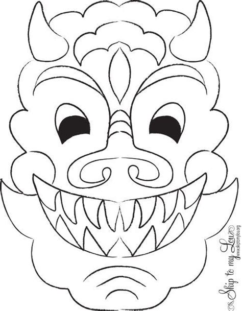 new year animal masks to colour 7 best masks images on mask
