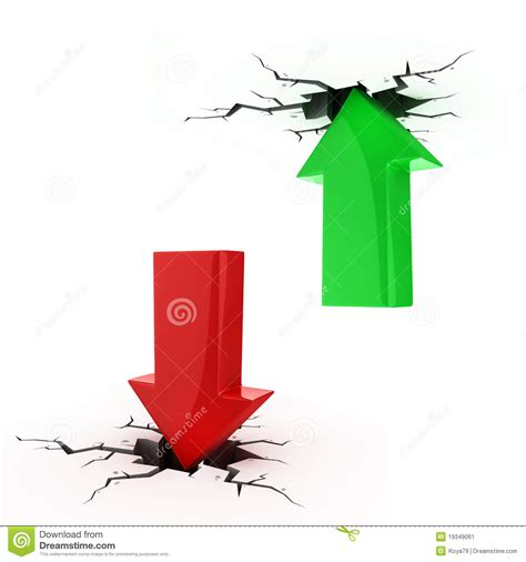 Up And Down Arrows Break Up The Floor And Ceiling Stock Image   Image: 19349061