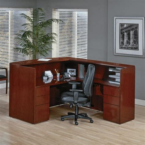 Cherry Wood Office Desk Sonoma Series Real Cherry Wood Reception Desk From Markets West Office Furniture Inc In