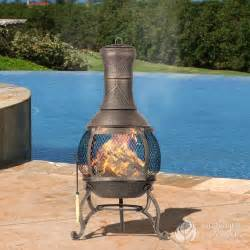 Backyard Chiminea Ceramic Chiminea