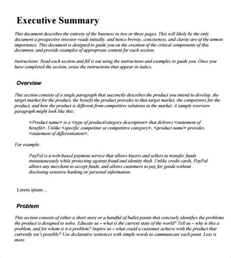 layout of a summary report exle executive summary template aipxipk incident report