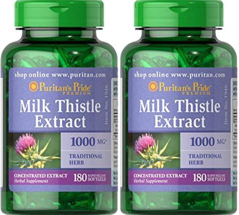 Puritan S Pride Milk Thistle 4 1 Extract 1000 Mg Silymarin 180 Softg puritans pride milk thistle 4 1 extract 1000 mg silymarin