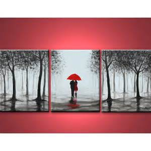 Home Decor Resale by Original Abstract Painting Walking In Rain Black White