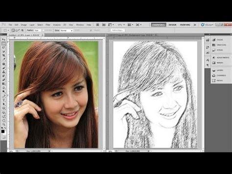 tutorial cara menggunakan sketchbook tutorial photoshop 187 cara merubah foto jadi lukisan pensil