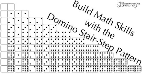 what is step pattern in math build math skills with the domino stair step pattern