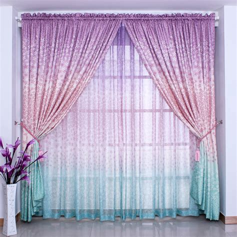 gauze fabric curtains ombre dye curtain rustic quality window curtaingirl living