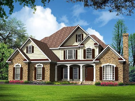 traditional house plans luxurious two story traditional