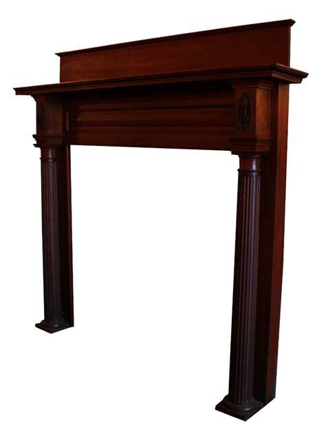 Ori Mantel fabulous antique neoclassical cherry fireplace mantel