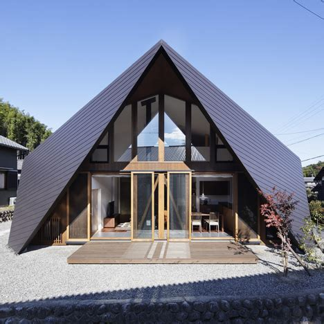 Folded Paper House - origami property by tsc architects characteristics a roof