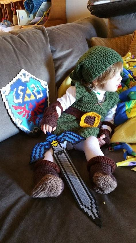 zelda belt pattern link costume kokiri hat tunic arm guards gloves belt