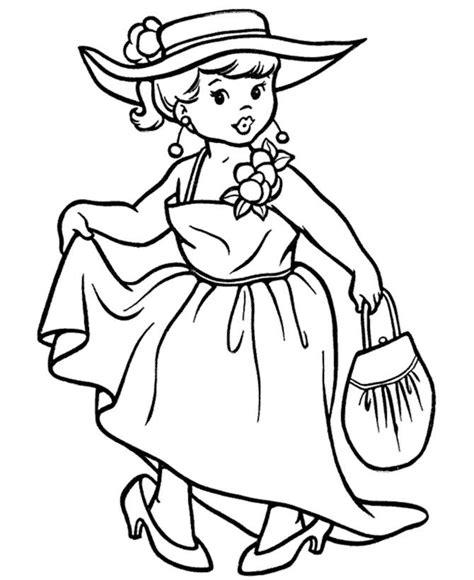 colonial girl coloring page disfraz de se 241 orita dibujalia dibujos para colorear