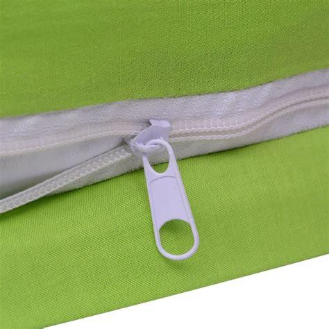 Bedcover Set Seprei Uk 200x200 vidaxl three duvet cover set cotton green 200x200 60x70 cm vidaxl co uk