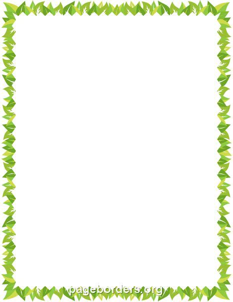 17 Best Images About Page Borders On Pinterest Caterpillar Christmas Presents And Autumn Leaves Leaf Border Template