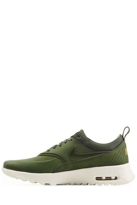 nike thea sneakers lyst nike air max thea premium leather sneakers green