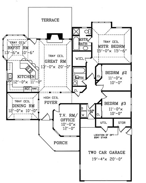 tucson house plans tucson contemporary ranch home plan 016d 0044 house plans and more