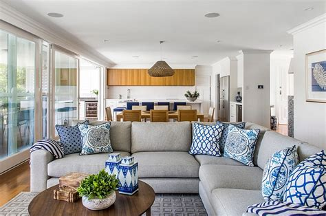blue and white living room blue and white interiors living rooms kitchens bedrooms
