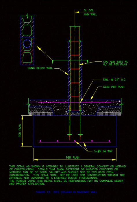 prefabricated column detail anchor dwg detail  autocad designs cad