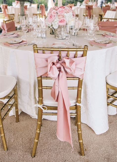 pink and gold chair sashes 20 creative diy wedding chair ideas with satin sash