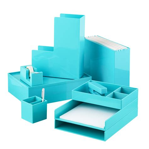 Office Supplies Desks Aqua Poppin Office Desktop Collection Everything Turquoise