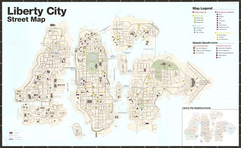 grand map with cities liberty city map grand theft auto city