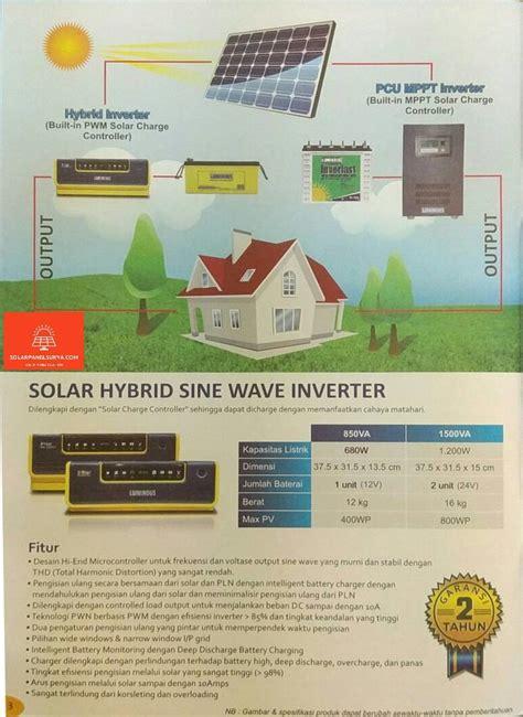 Harga Power Inverter Di Surabaya jual luminous solar hybrid sine wave inverter 850va