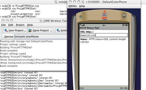 themes for java j2me using http over socket and http proxy in j2me applications