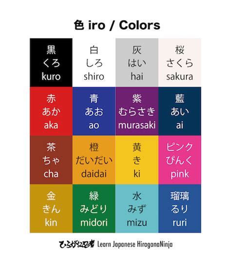 colors in japanese iro 16 japanese colors japanese learning with