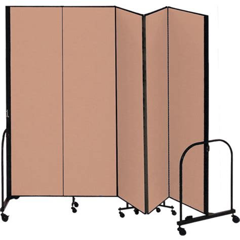 Freestanding Room Divider Fsl805 Eo School Room Divider Freestanding Portable 8 H X 9 5 Quot L Beech Excel Fabric