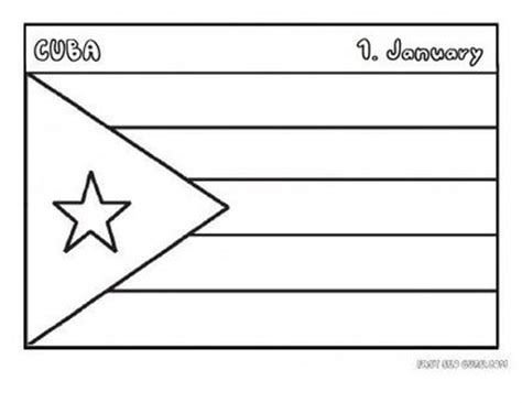 cuba educational activities free printable flag of cuba coloring page for kids