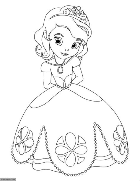printable coloring pages disney princess disney sofia the first printable coloring page
