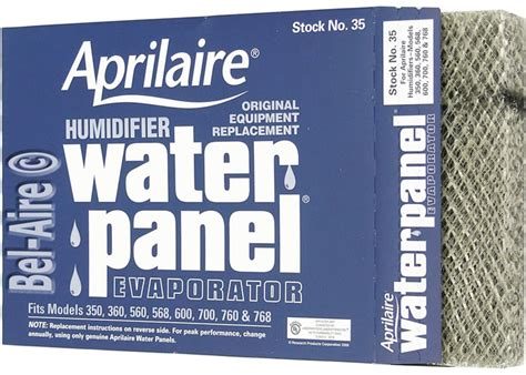aprilaire  water panel pad humidifier filter     series