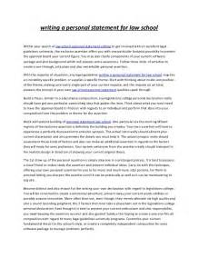 Write Your Essay by Writing A Personal Statement For School