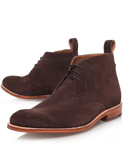 desert shoes foot the coacher brown suede desert boots in brown