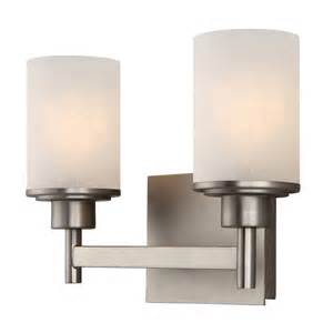 shop canarm 2 light lyndi brushed nickel bathroom vanity