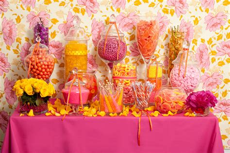 hot pink candy buffet candy buffets wedding candy