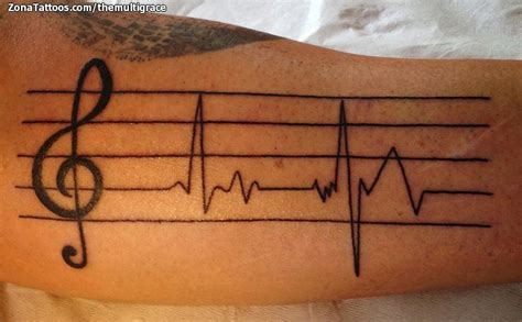 imagenes de tatuajes de notas musicales tatuaje de themultigrace pentagramas notas musicales