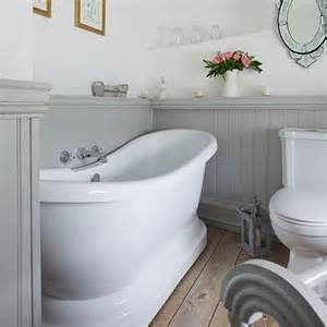 Bathroom Ideas Grey And White Traditional Style Grey Panelled Bathroom Easy Bathroom