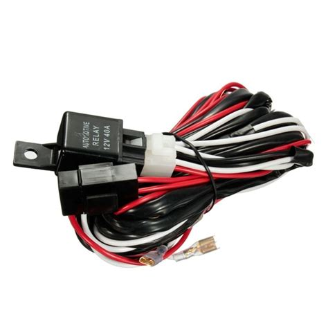 12v 40a 300w relay fuse wiring harness for any 5 pin led