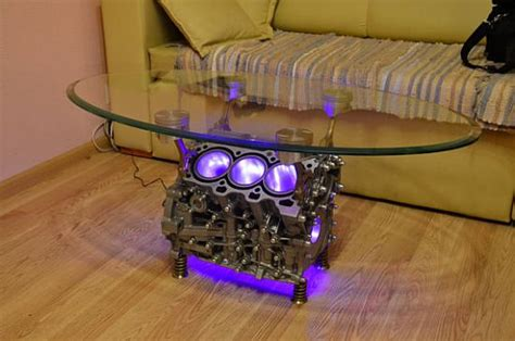 Engine Glass Coffee Table Top Gear Engine Coffee Table Is A Must Buy For Auto Nerds Eco Chunk