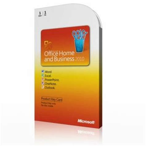 discounted office 2010 home and business product key card