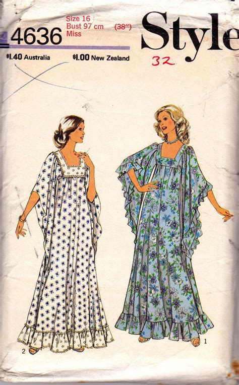 70s vintage sewing pattern caftan style 2076 size large 16 141 best caftans images on pinterest tunics caftans and