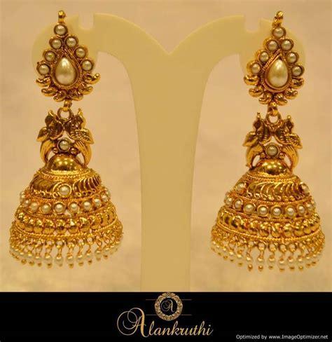 jhumka design images buy alankruthi fancy gold jhumka 22 online